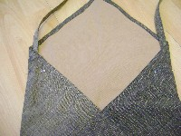 recycled jeans bag straps pinned