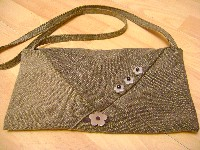 recycled jeans bag complete with decoration