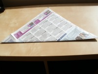 square of newspaper