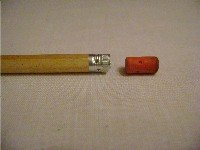 pencil with rubber removed